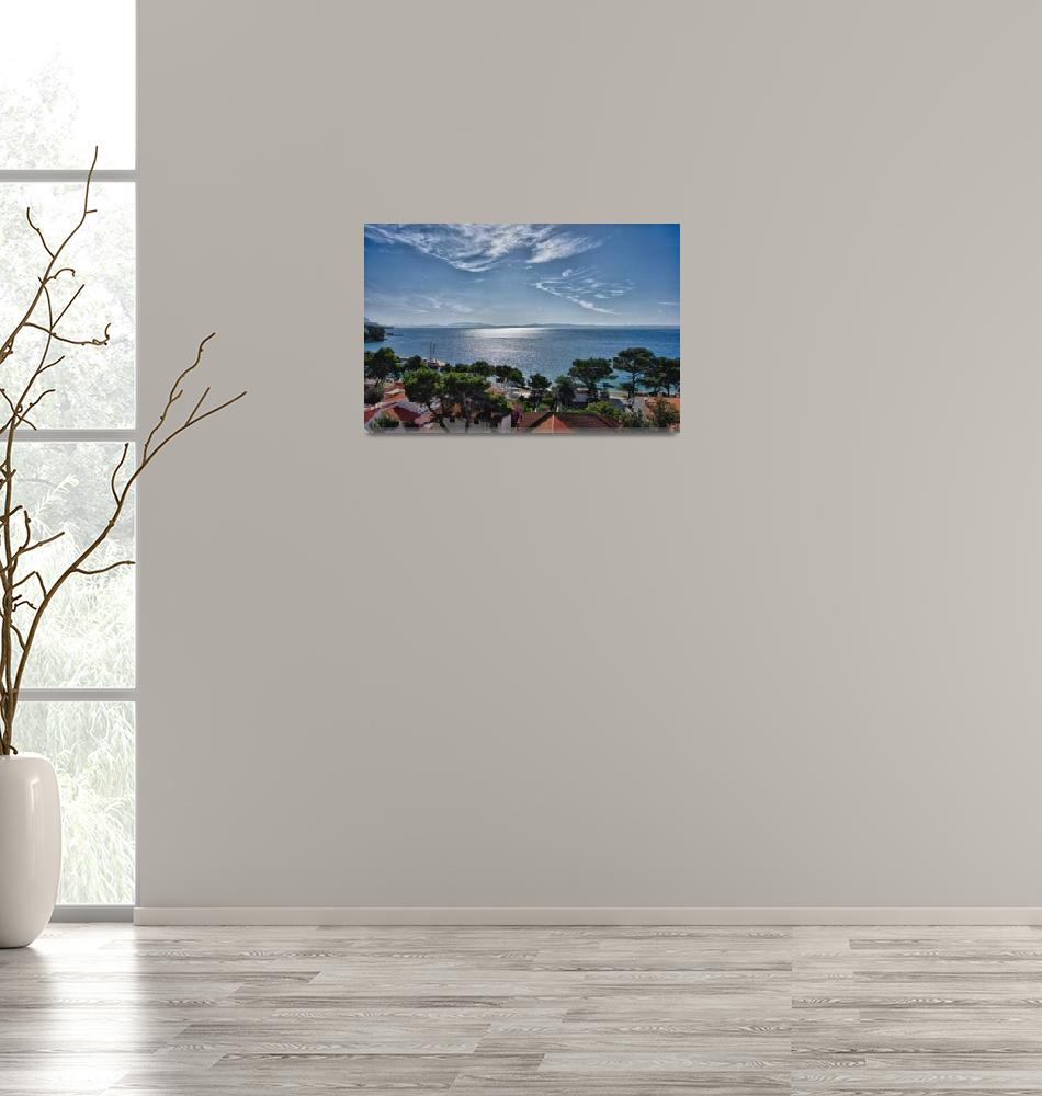 """View from Brela, Croatia""  (2014) by DaveRowley"