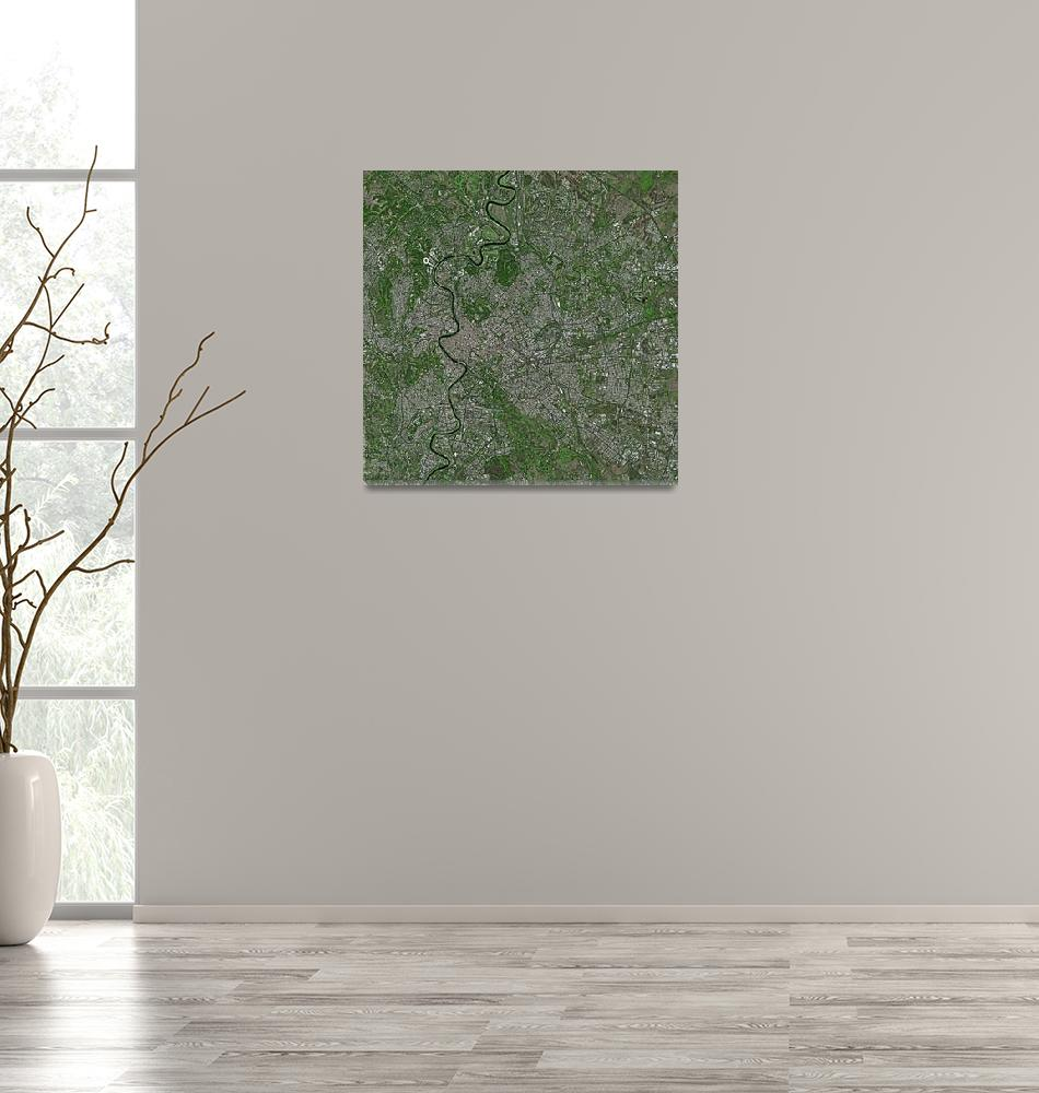 """Roma (Italy) : Satellite Image""  (2002) by astriumgeo"