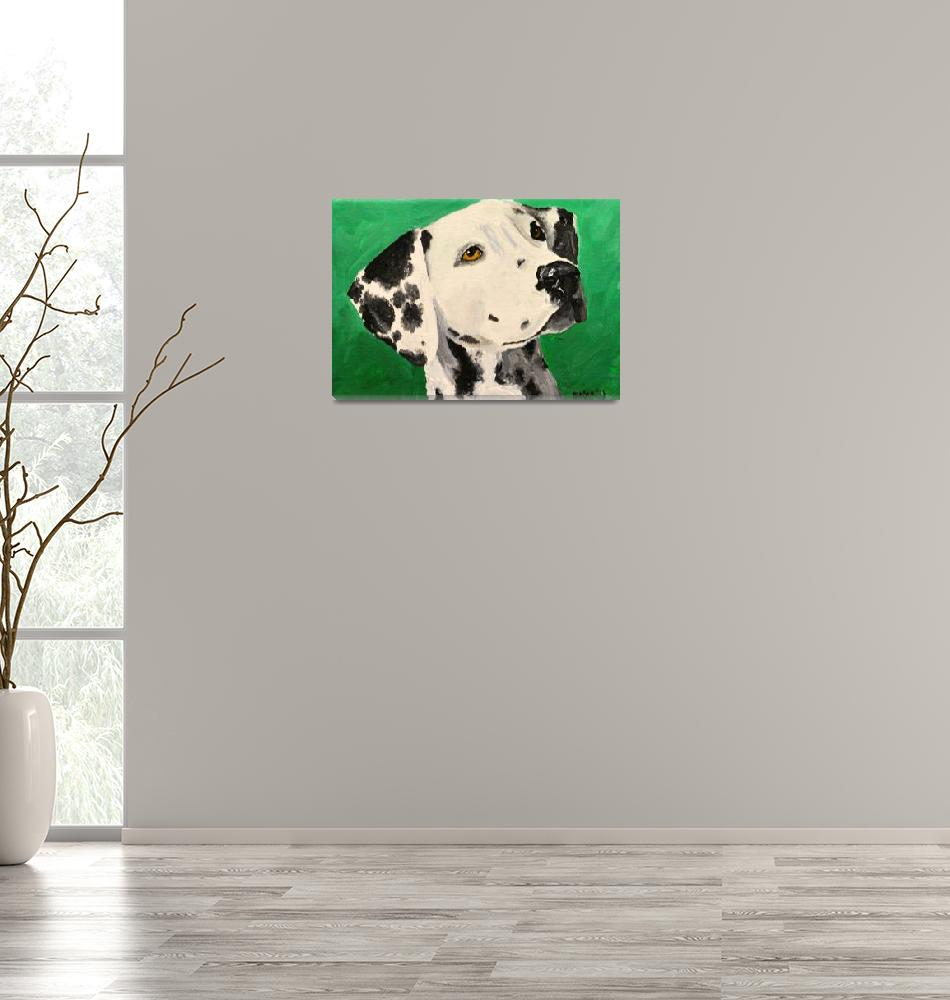 """Dalmatian On Green""  (2013) by Rmbartstudio"
