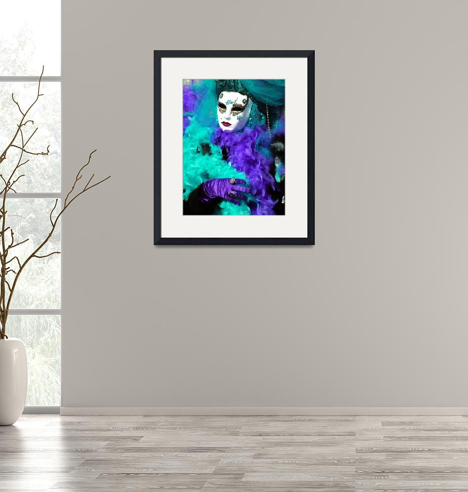 """""""Turquoise and Purple Boa""""  (2006) by DonnaCorless"""
