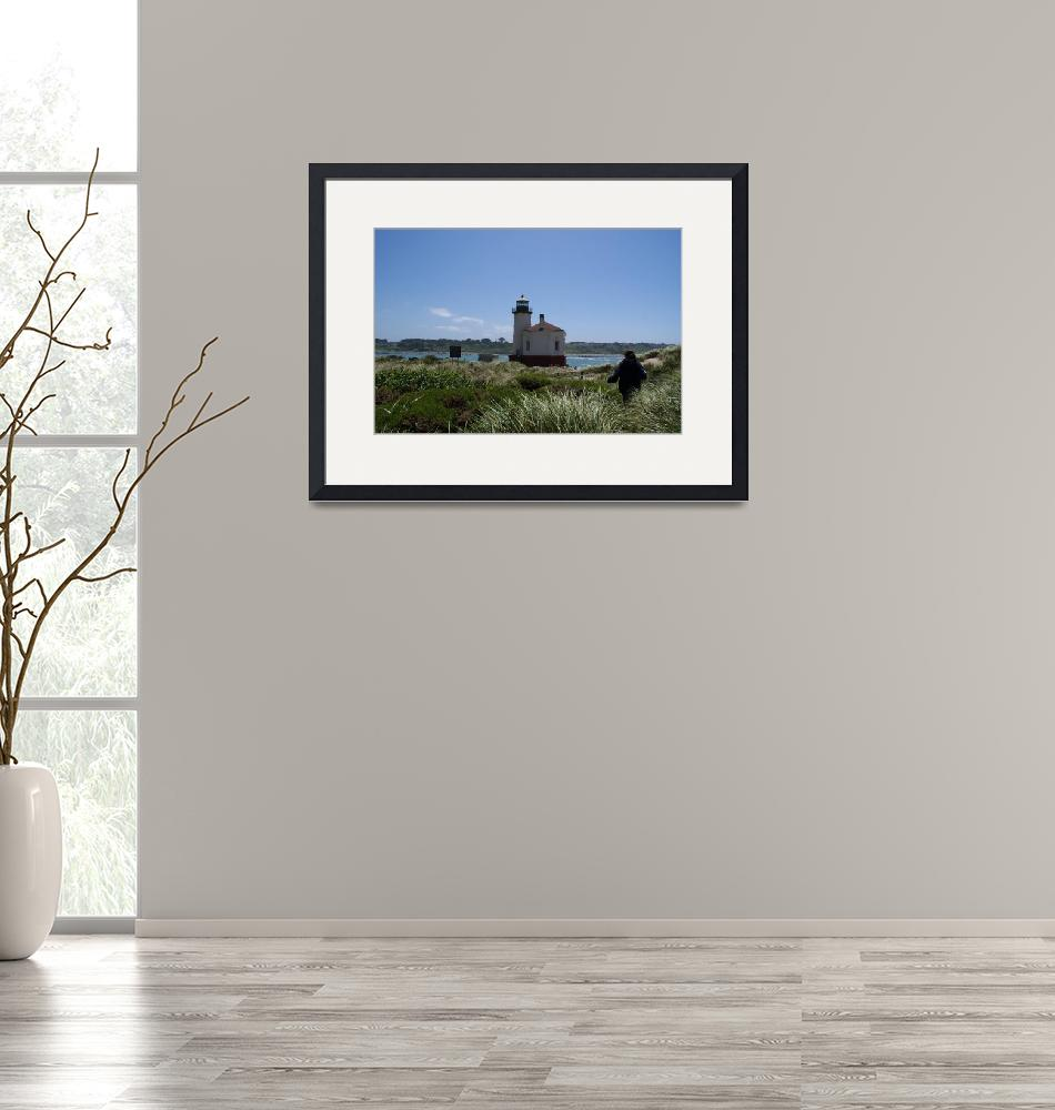 """""""Coquille River Lighthouse 1896""""  (2010) by katsmouse"""