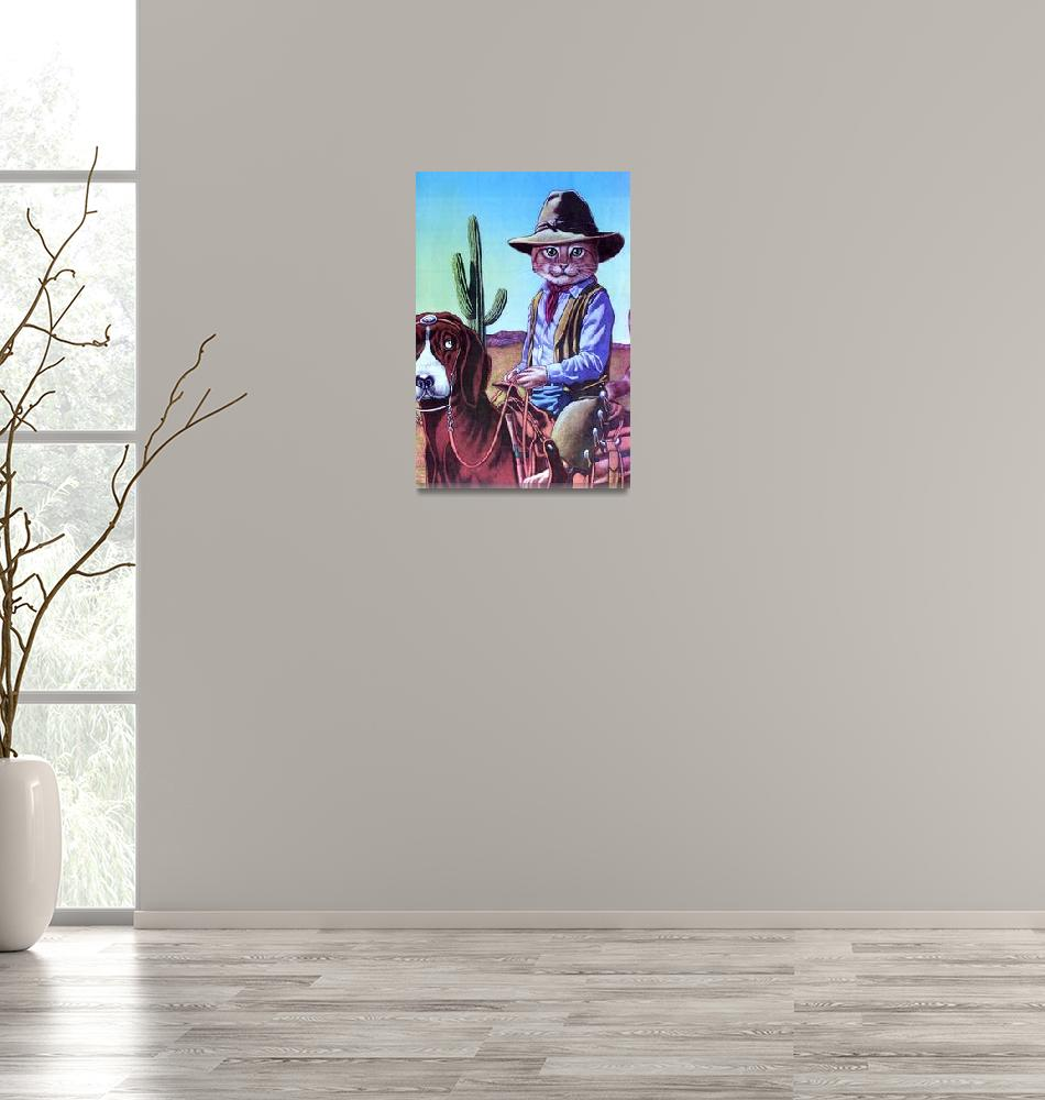 """""""Cowboy Cat""""  (1992) by MikeCressy"""