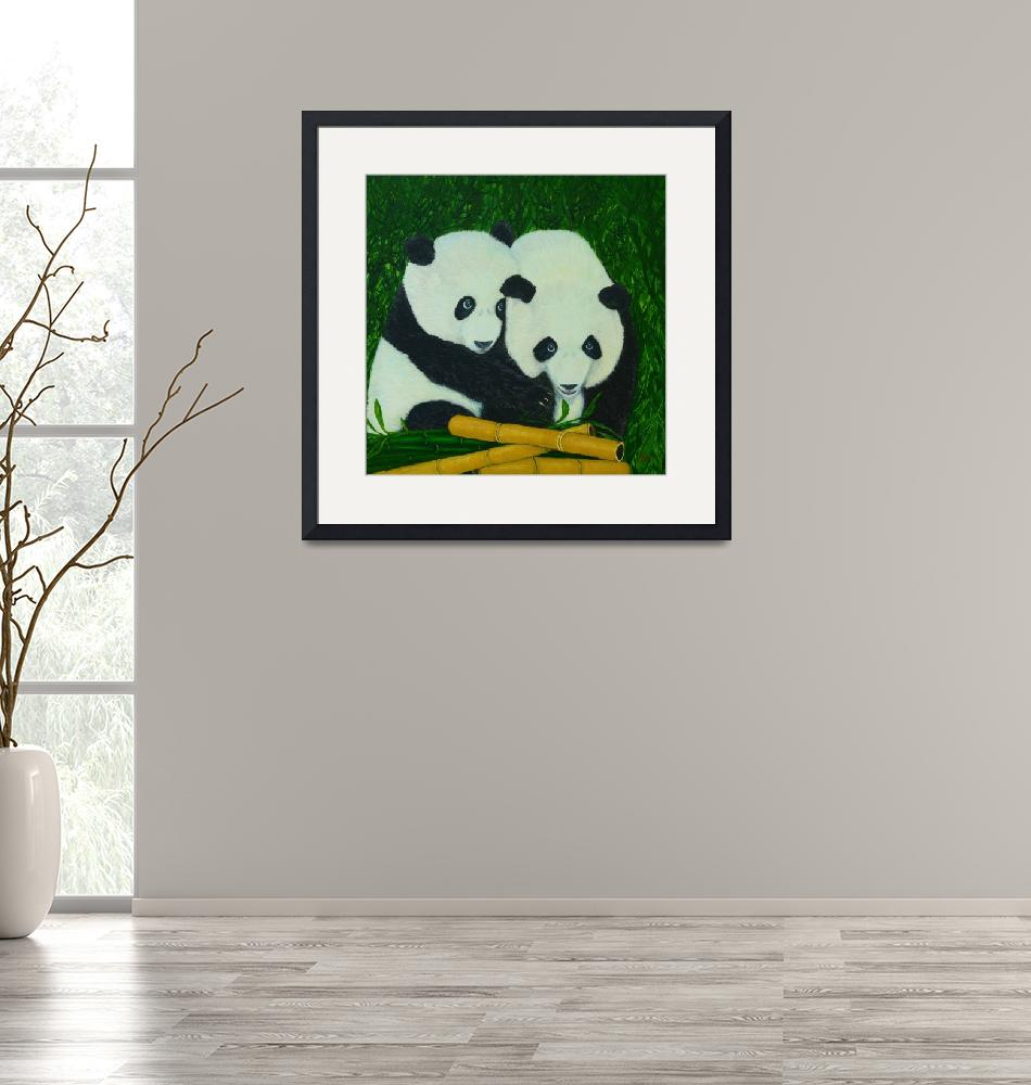 """Panda Bears and Bamboo""  (2016) by Karbstein"