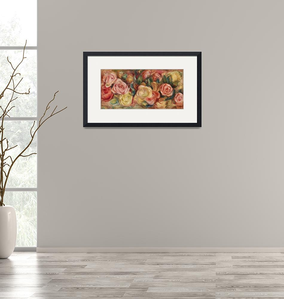 """Roses by Renoir""  by FineArtClassics"
