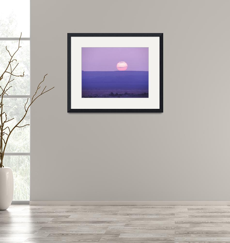"""""""Sunset at Sahara desert""""  (2014) by Droopy"""