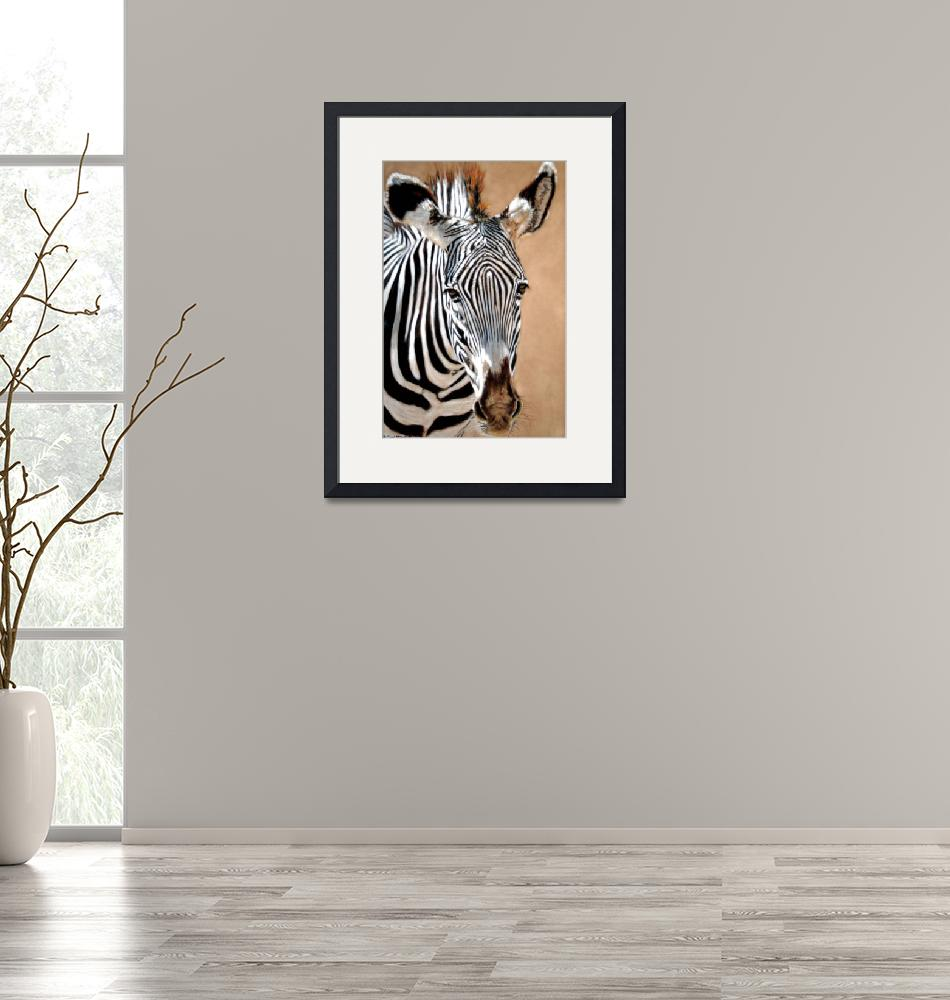 """Serengeti Zebra""  (2008) by CarolMcCarty"
