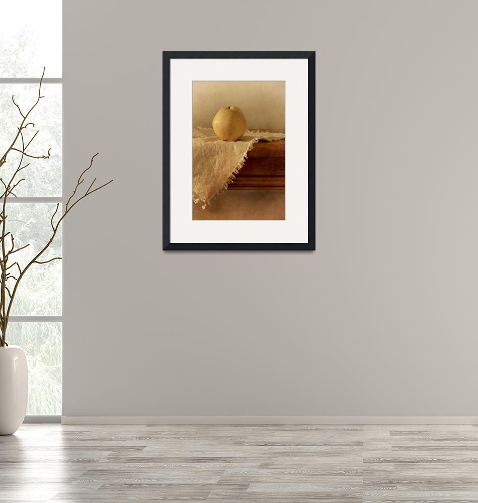 """""""apple pear on a table""""  by Piri"""
