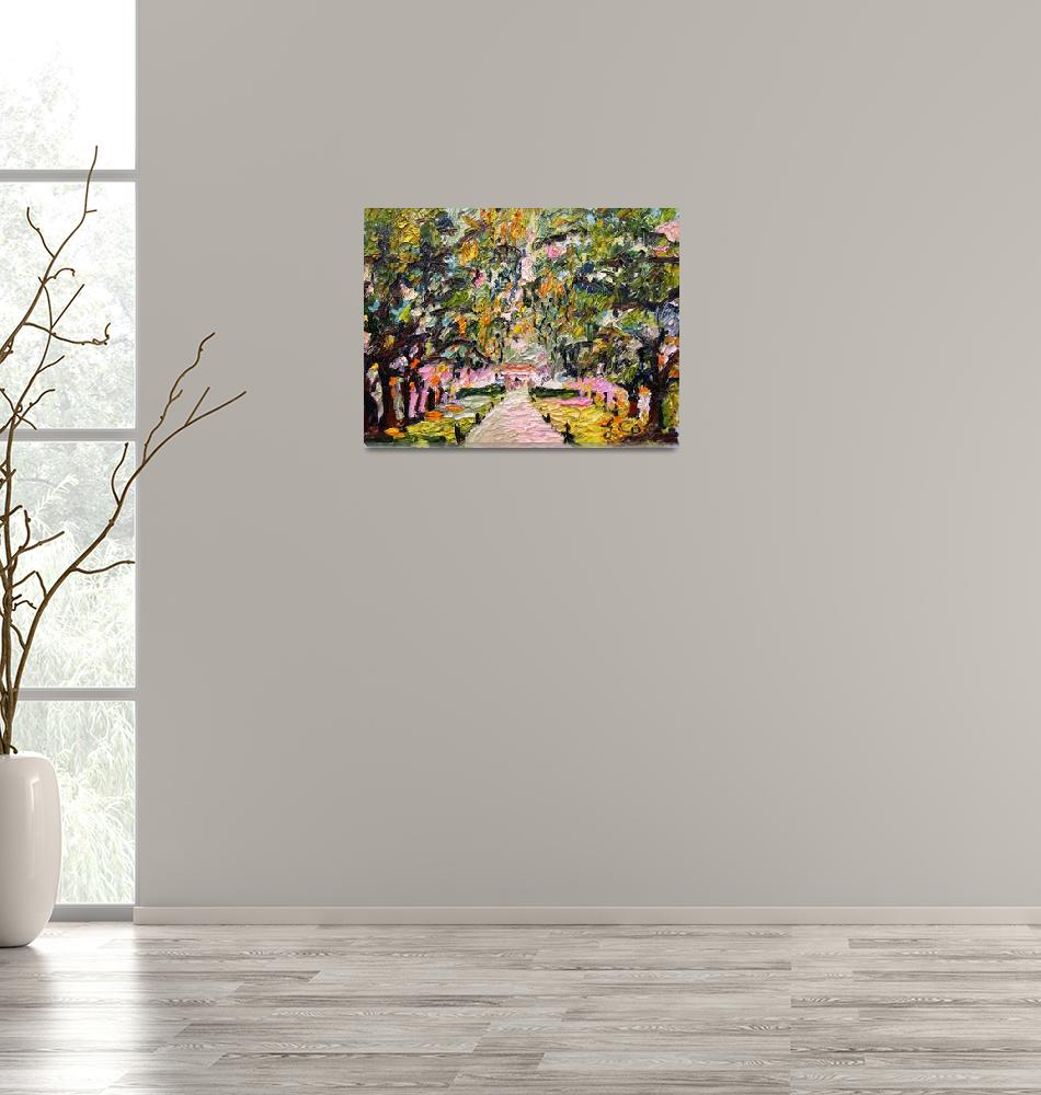 """""""Avenue of Oaks South Carolina Oil Painting by Gine""""  (2009) by GinetteCallaway"""