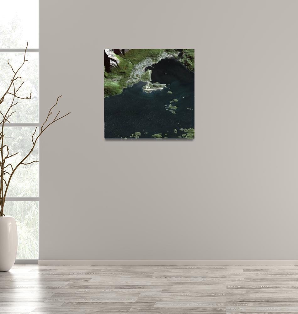 """""""Ushuaia (Argentina) : Satellite Image""""  (2007) by astriumgeo"""