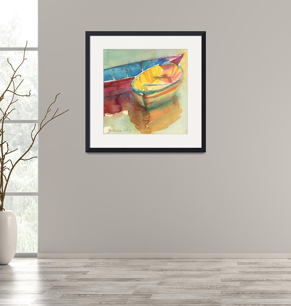 """Little Yellow Boat"" (2012) by YevgeniaWatts"