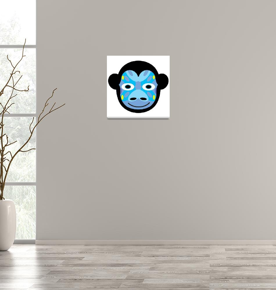 """""""Animal Mask Icon Monkey""""  (2013) by charker"""