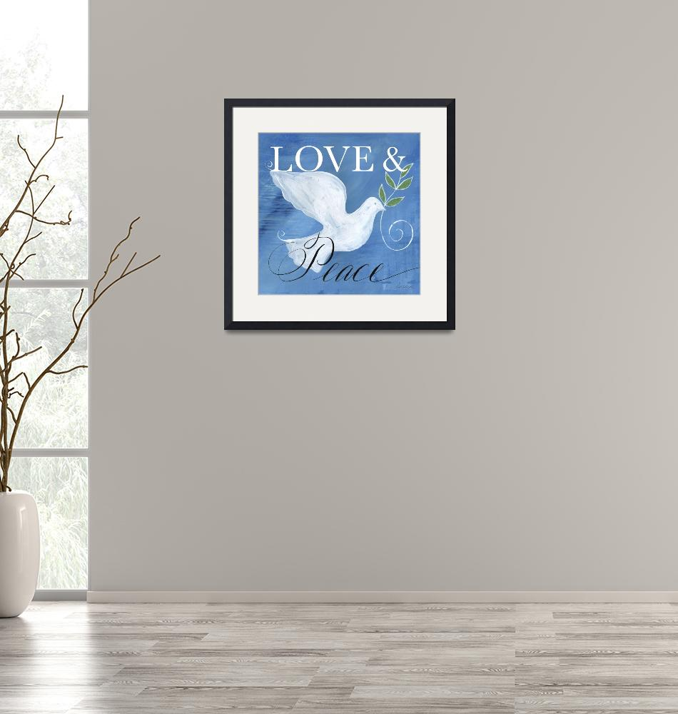 """""""Love & Peace Holiday Dove""""  (2019) by HandwrittenLife"""
