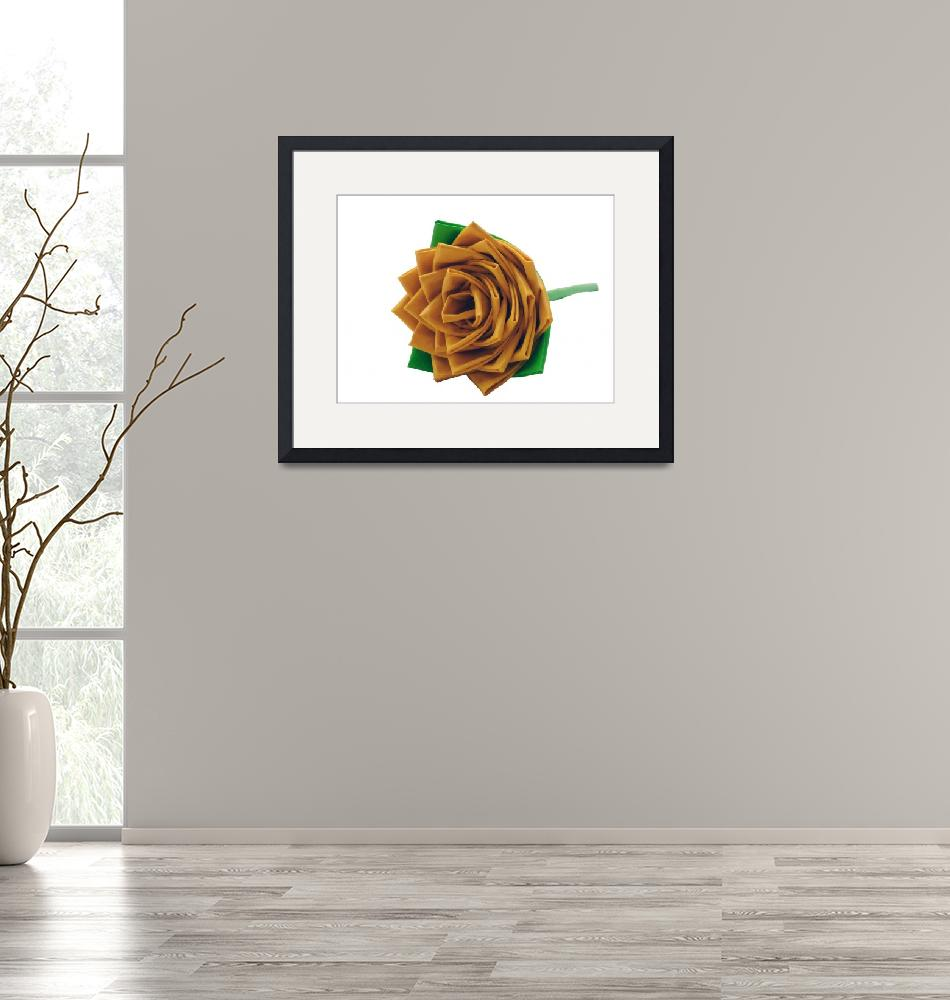 """""""Yellow Duct Tape Rose""""  (2012) by rhamm"""