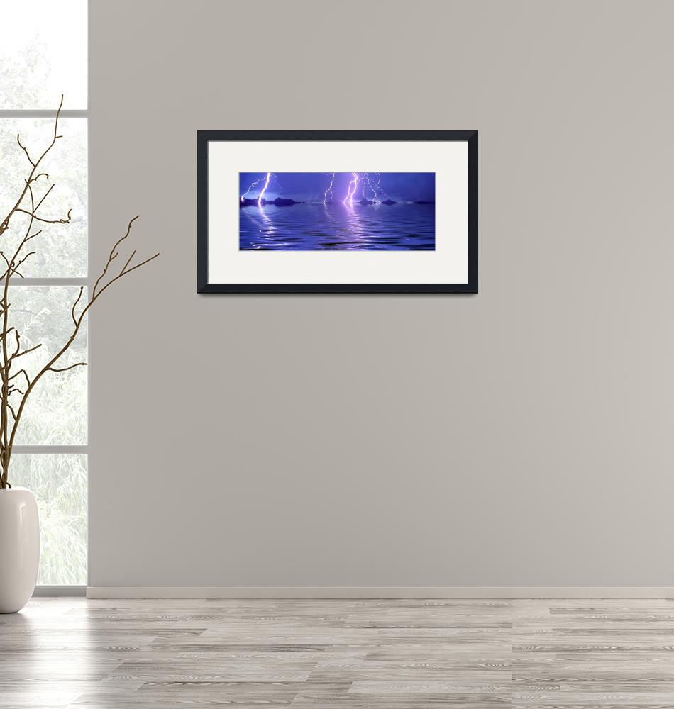 """""""Lightning over the sea""""  by Panoramic_Images"""