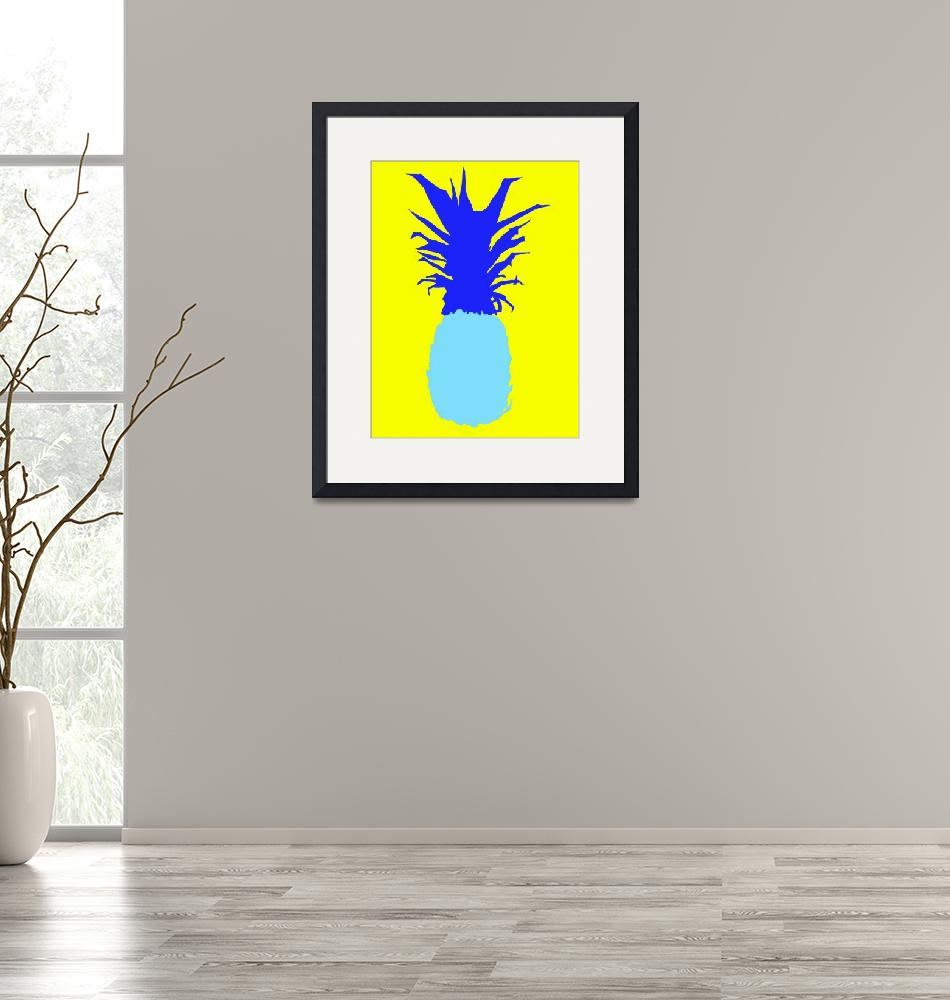 """Pineapple blue yellow (c)""  (2014) by edmarion"