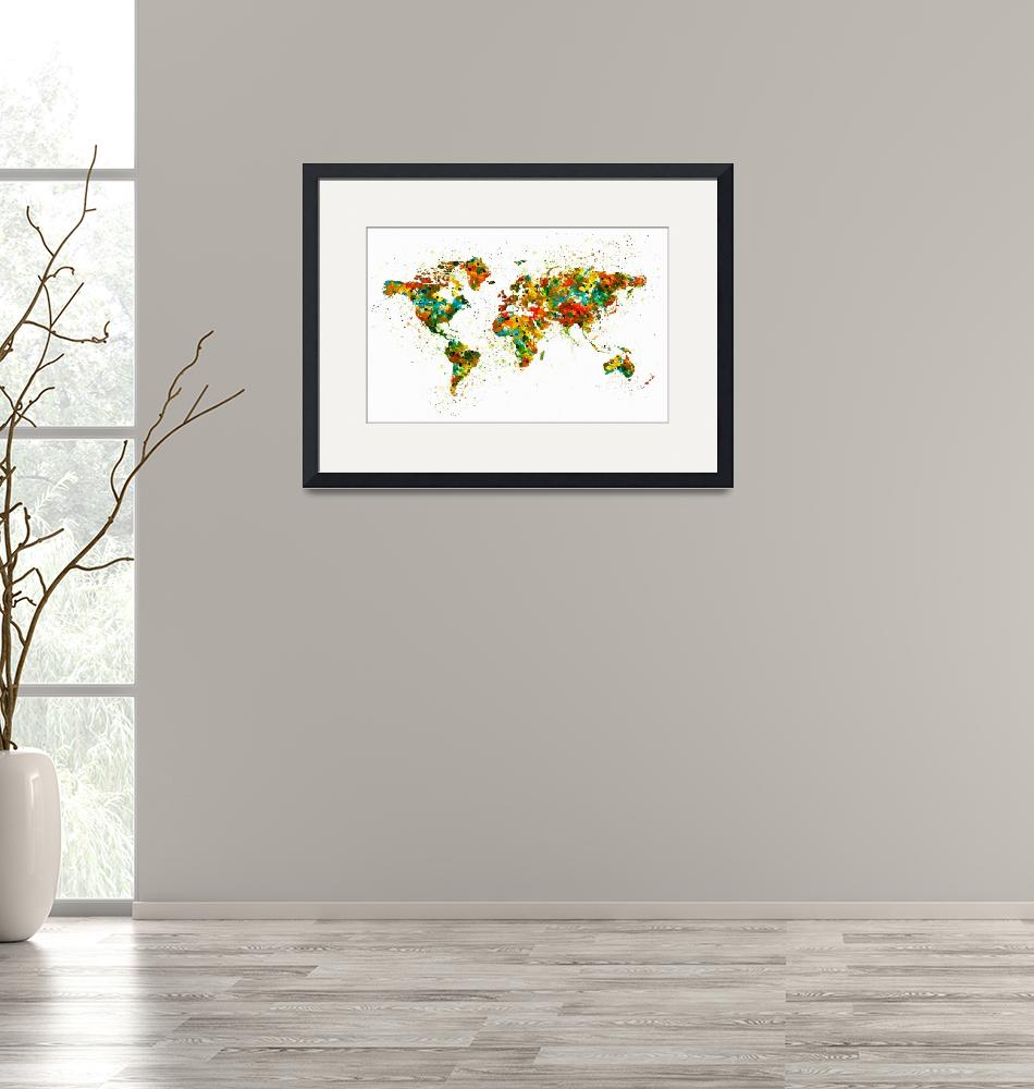"""Map of the World""  (2015) by MarianVoicu"