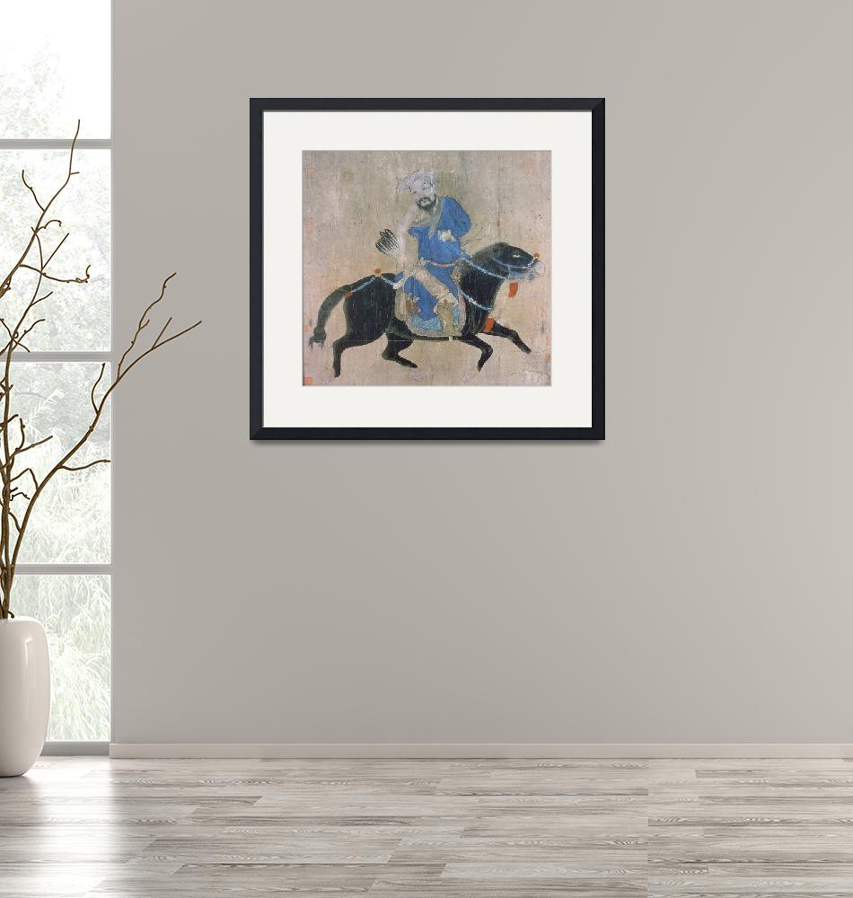 """Mongol archer on horseback, from seals of the Empe""  by fineartmasters"