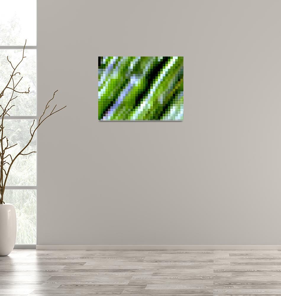"""Pixelated Leaf""  (2010) by Alvimann"