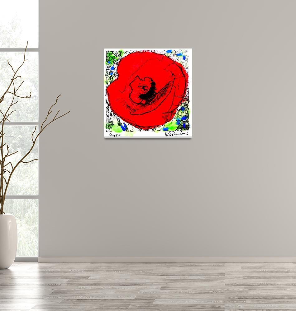 """""""Red Poppy Flower""""  (2006) by RDRiccoboni"""