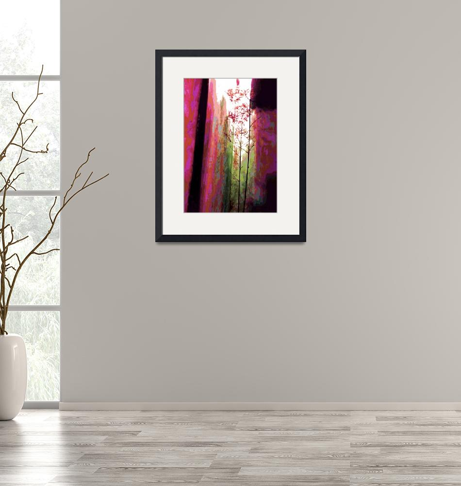 """""""China Delicate Bamboo Red""""  (2009) by LeslieTillmann"""