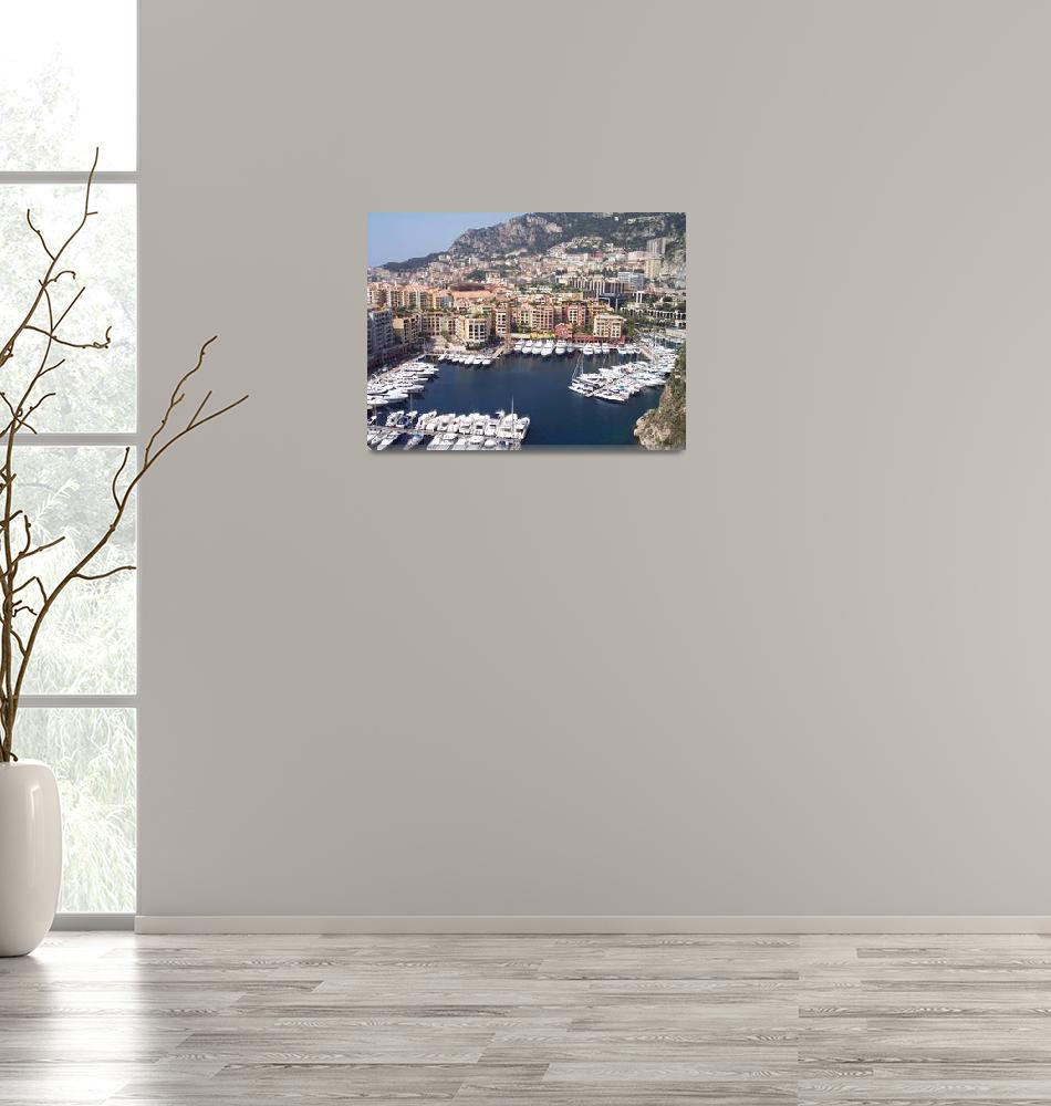 """Monaco Harbour""  (2006) by marlenechallis"