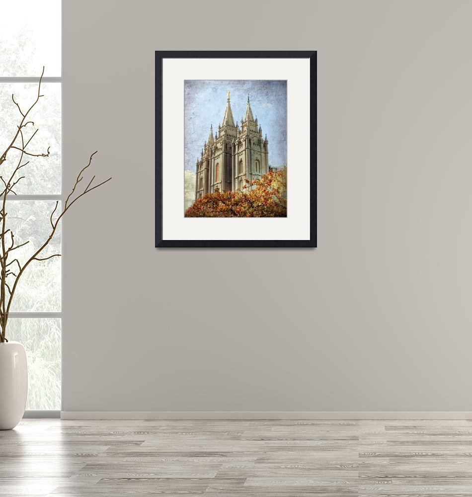 """""""Salt lake temple HDR with texture""""  by houstonryan"""