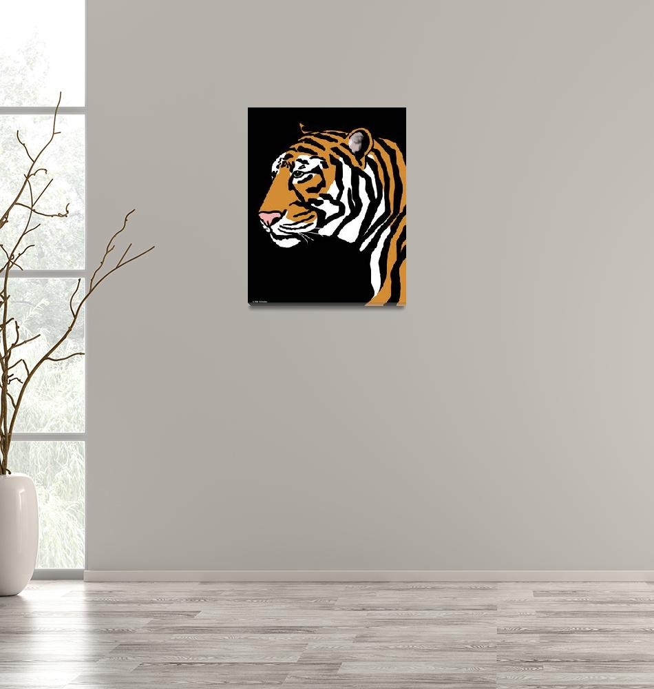 """Tiger Portrait""  (2011) by waterart"