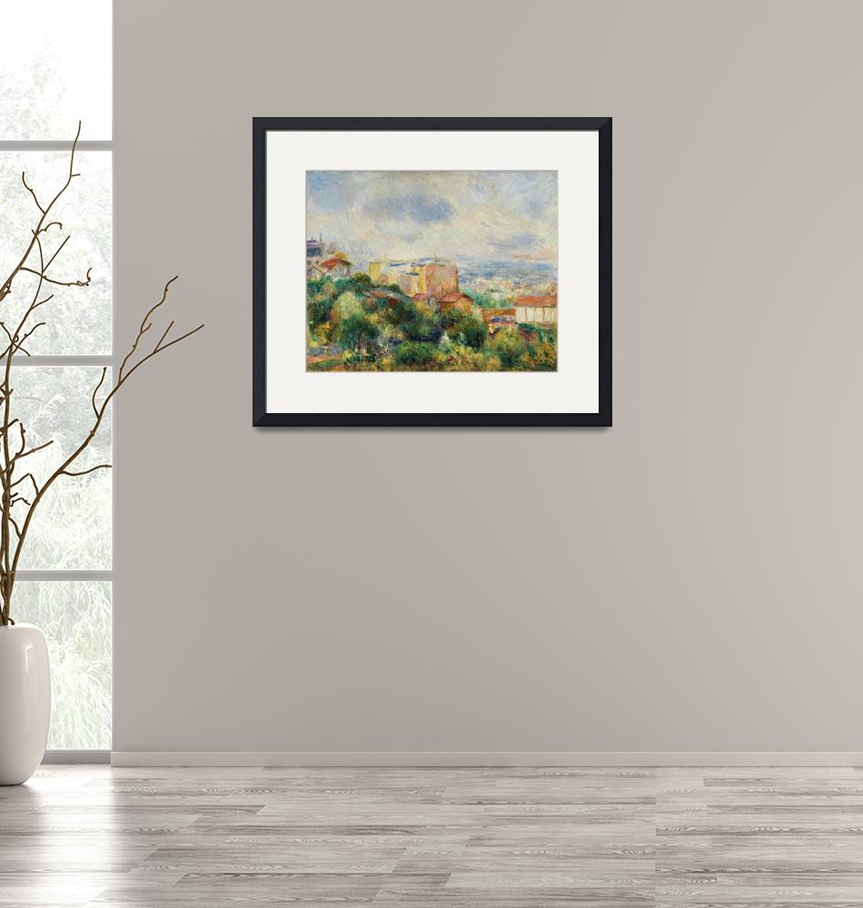 """""""View From Montmartre by Renoir"""" by FineArtClassics"""