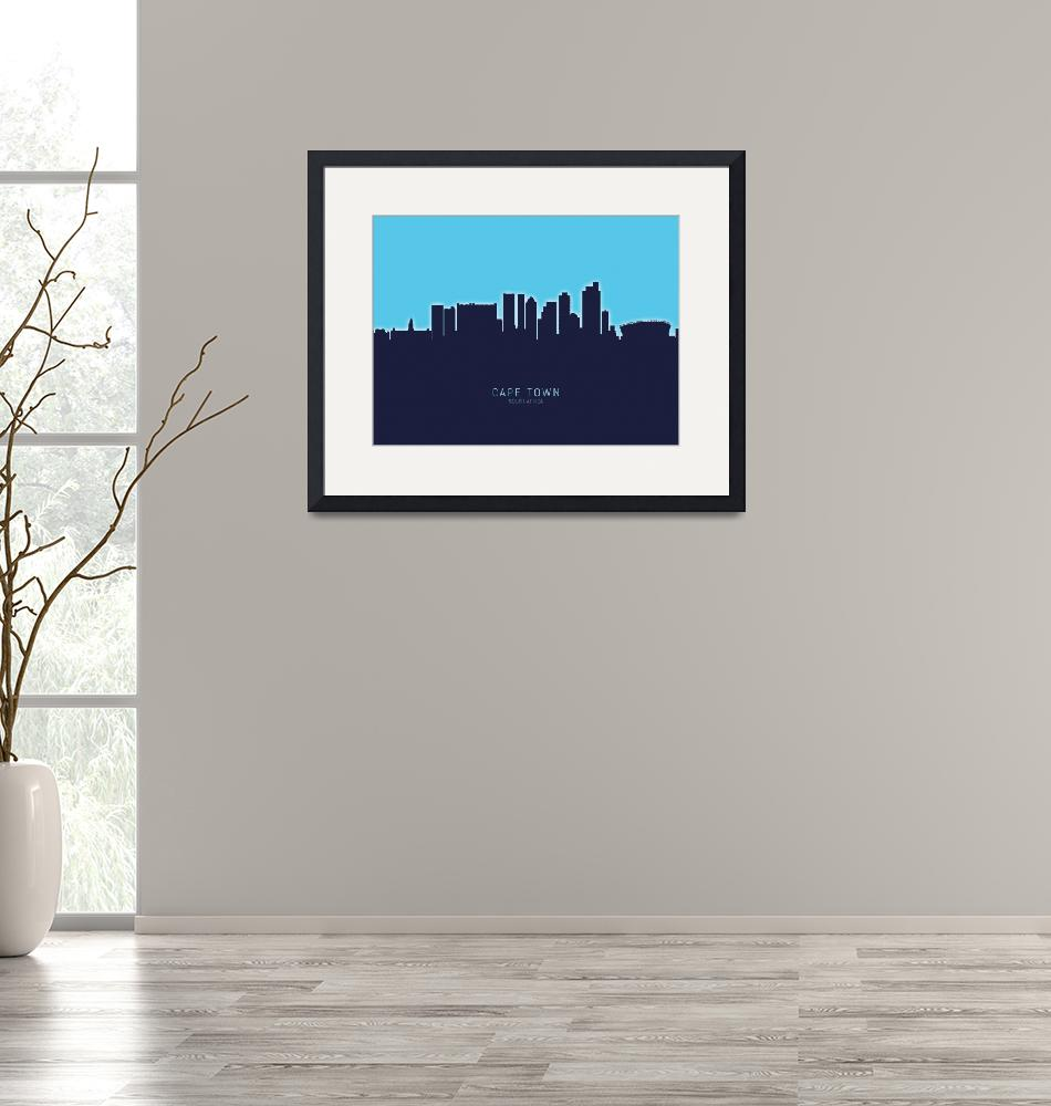 """Cape Town South Africa Skyline""  (2020) by ModernArtPrints"