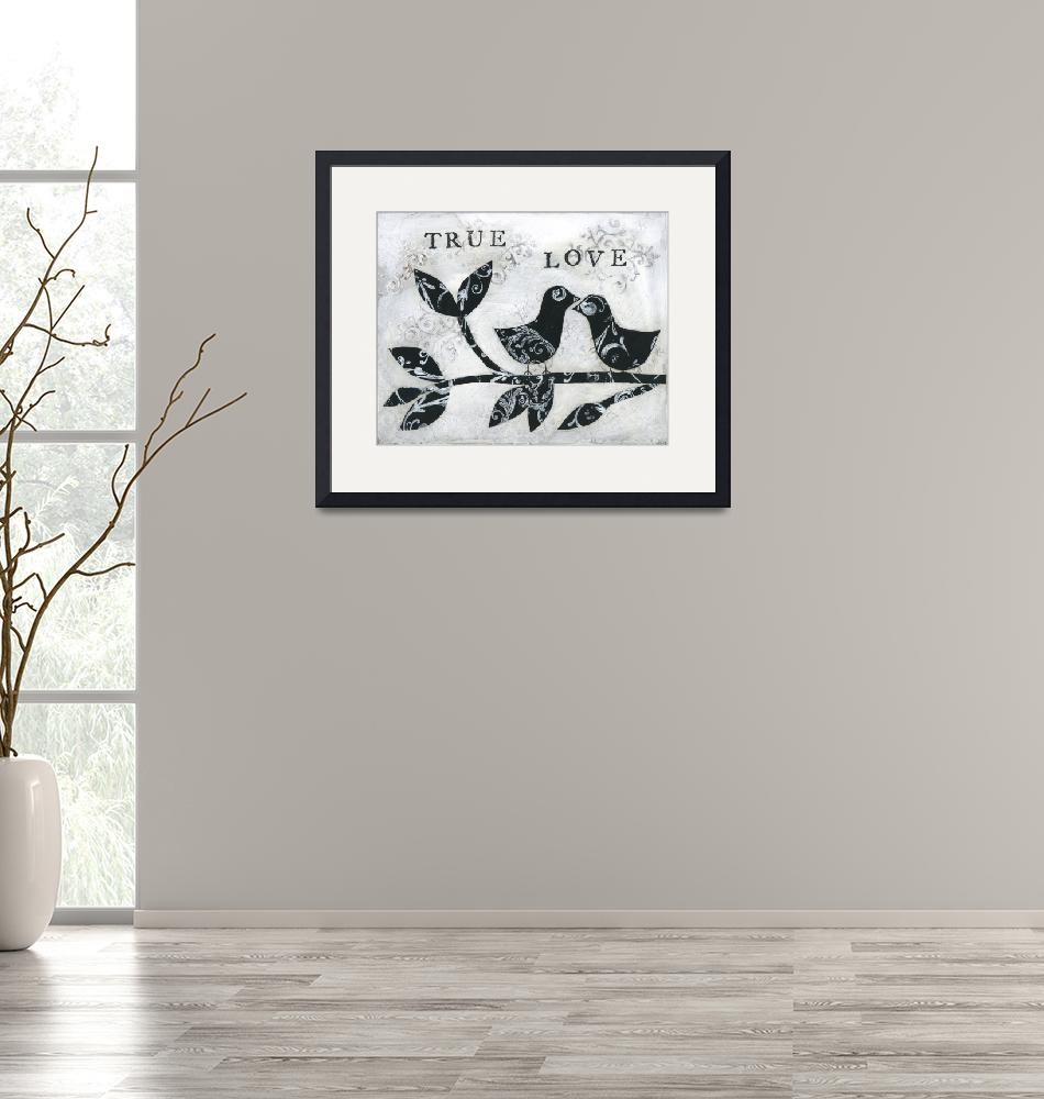 """""""Black and White Birds True Love""""  (2016) by HandwrittenLife"""