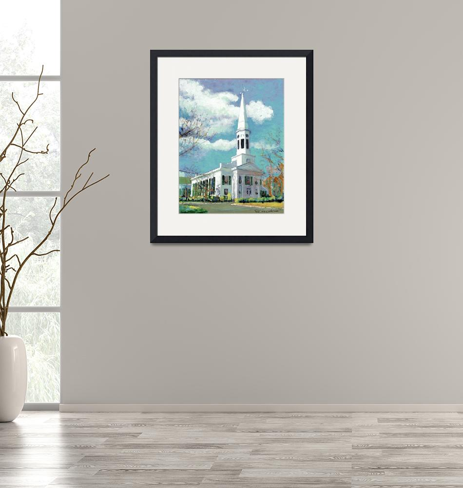 """""""Church in New Canaan, Connecticut""""  (2005) by RDRiccoboni"""