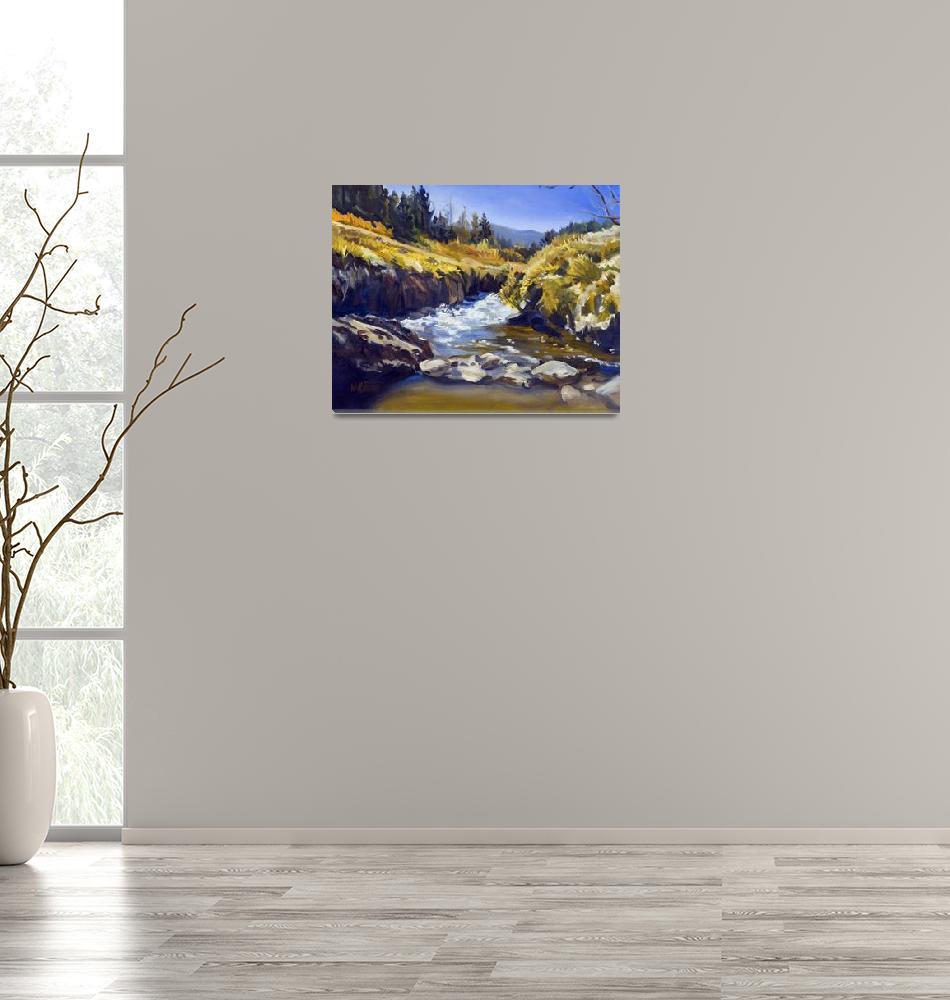 """Warren Keating CALIFORNIA MOUNTAINS Fine Art Print"" (2005) by KeatingArt"