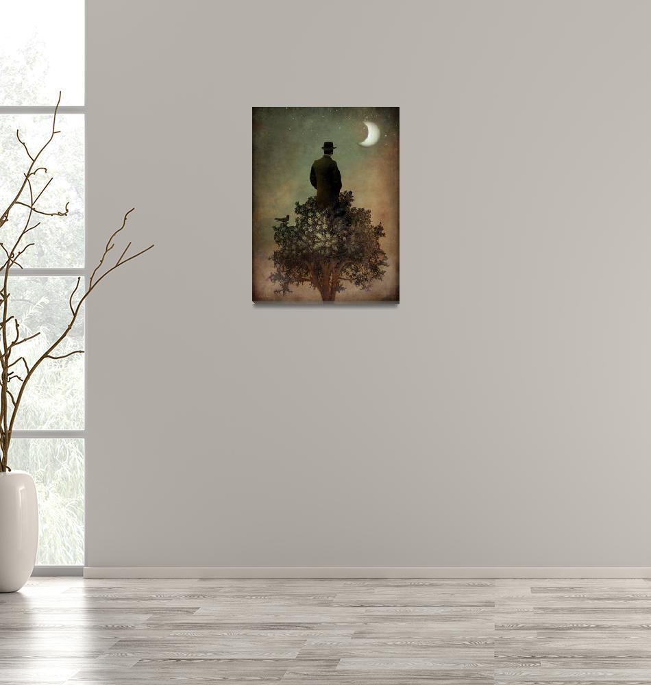 """Man in tree"" (2012) by Catrin-Stein"