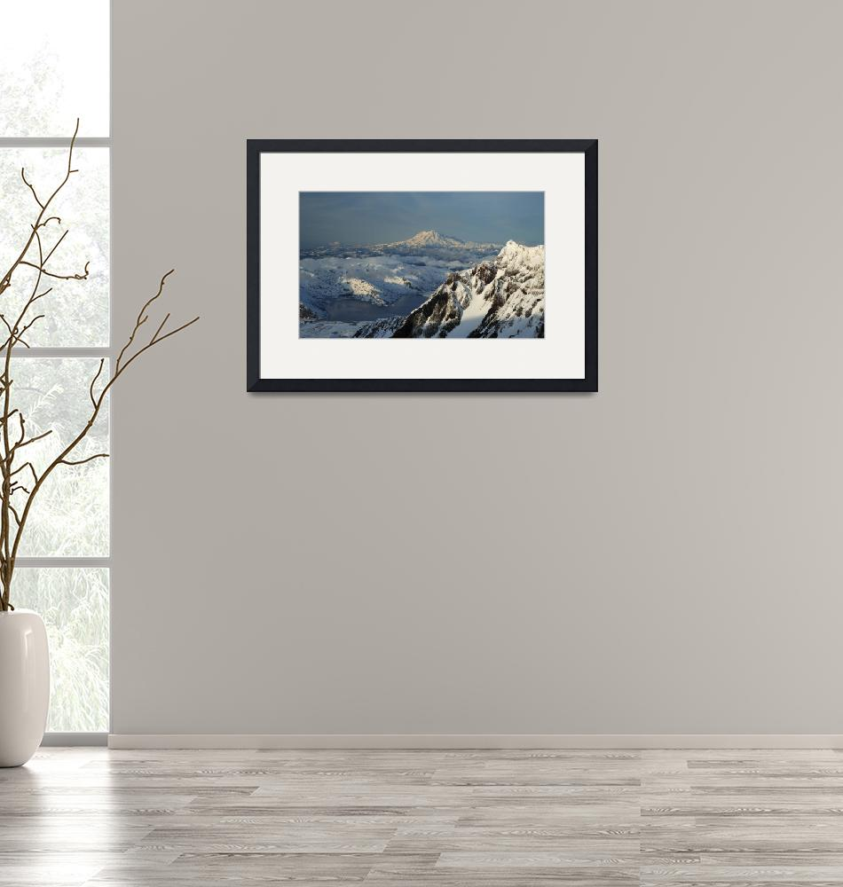 """""""Mt Rainier from Mt St Helens""""  by bufo"""