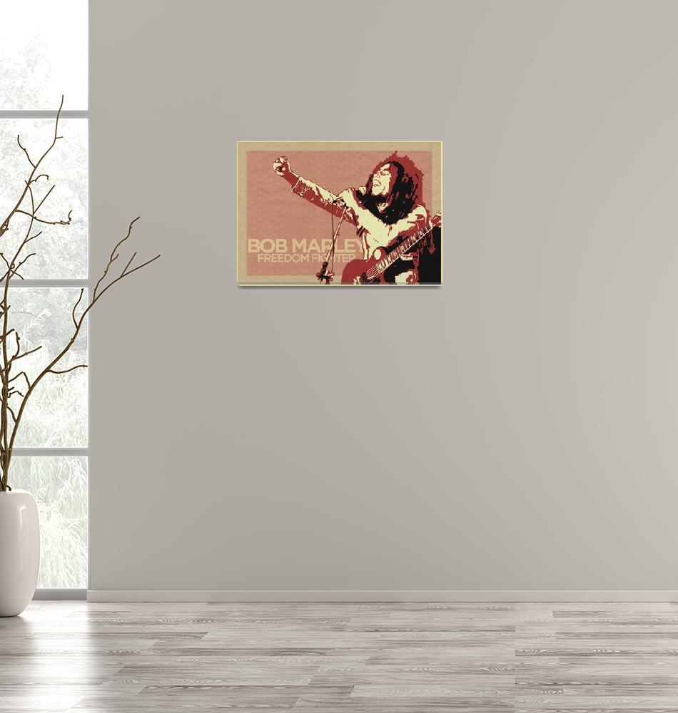 """Bob Marley Pop Art""  (2009) by VintagePopArt"