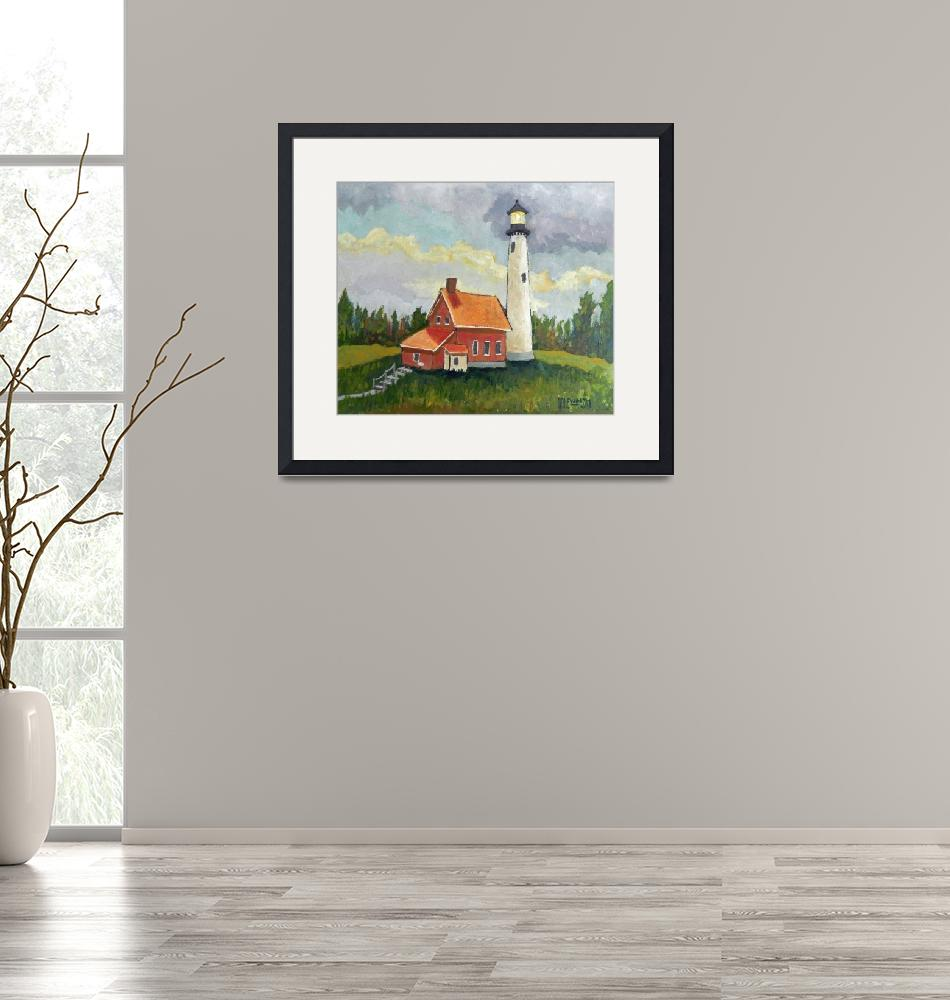 """""""Tawas Point Lighthouse"""" (2019) by Holewinski"""