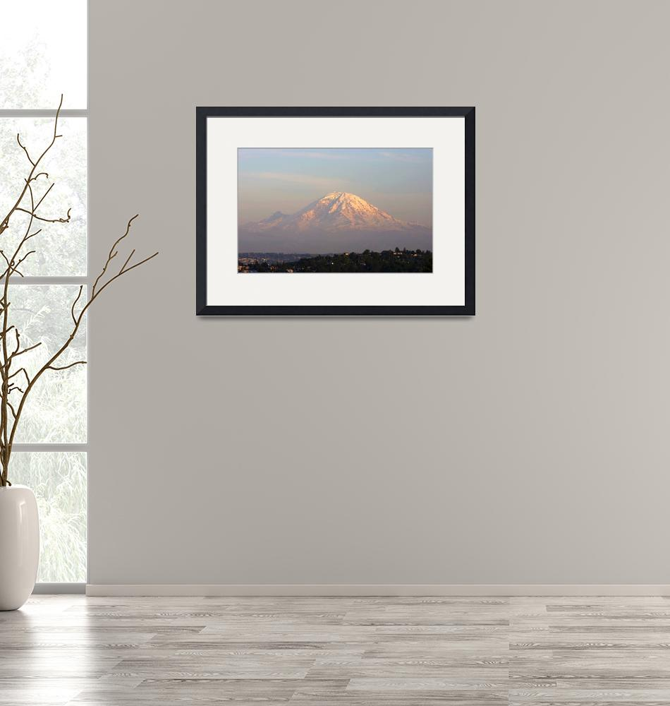 """""""Mt. Rainier at sunset""""  by timknight"""