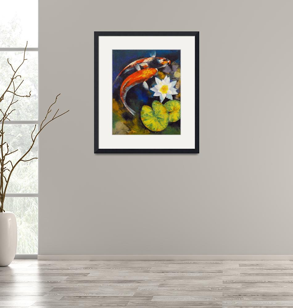 """""""Koi Fish and Water Lily""""  by creese"""