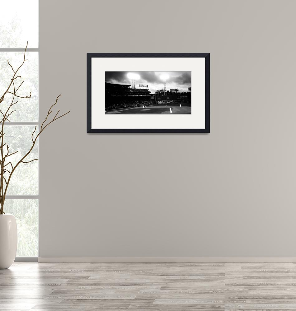"""""""Fenway Park - panoramic""""  (2010) by NatalieRobinson"""