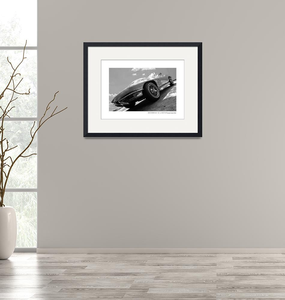 """""""1966 Corvette BW Poster""""  (2017) by Automotography"""