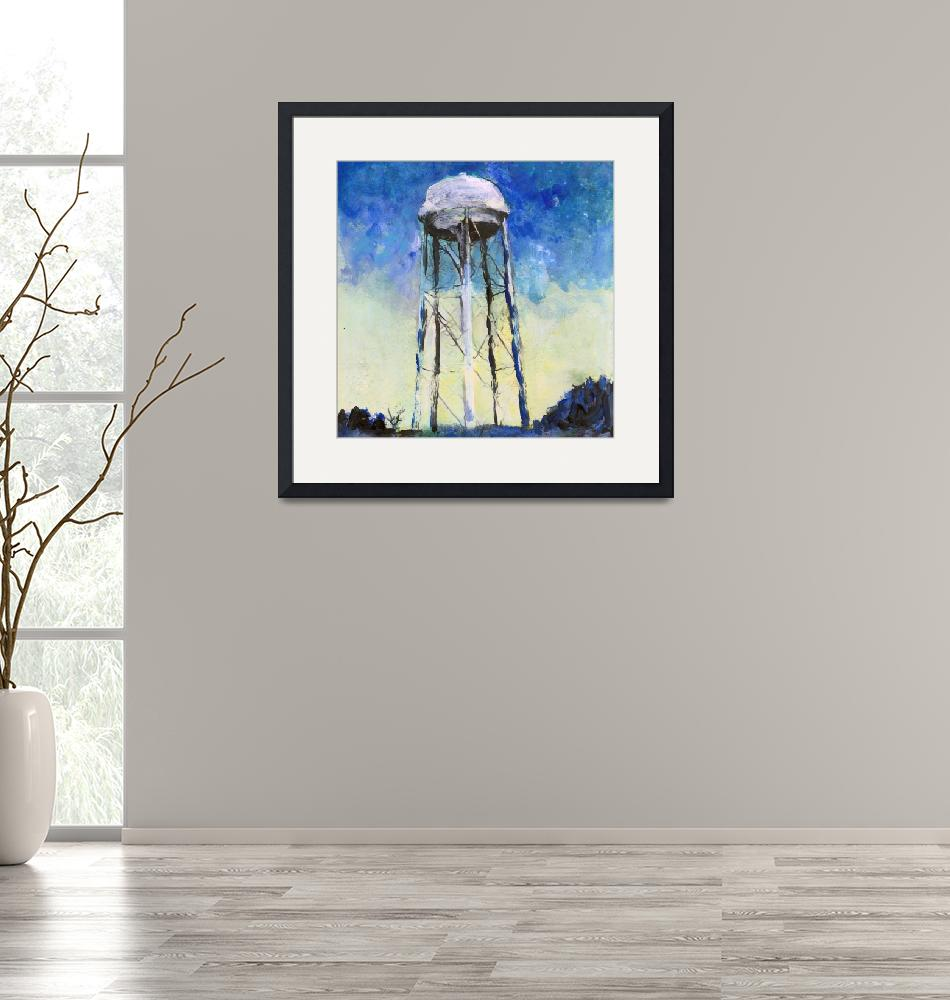 """""""Water Tower in The Night""""  (2017) by RDRiccoboni"""