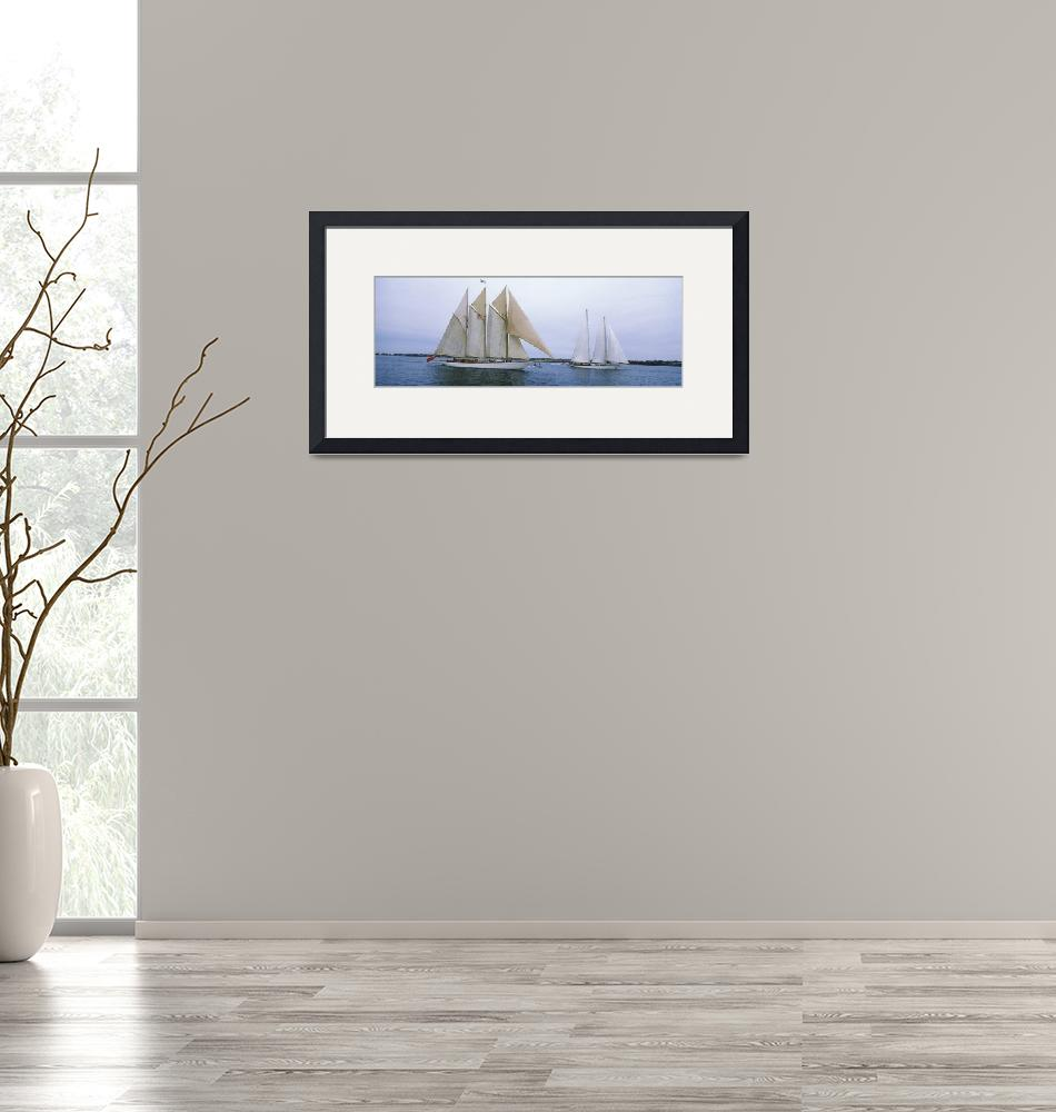 """""""Sailboats in the sea""""  by Panoramic_Images"""