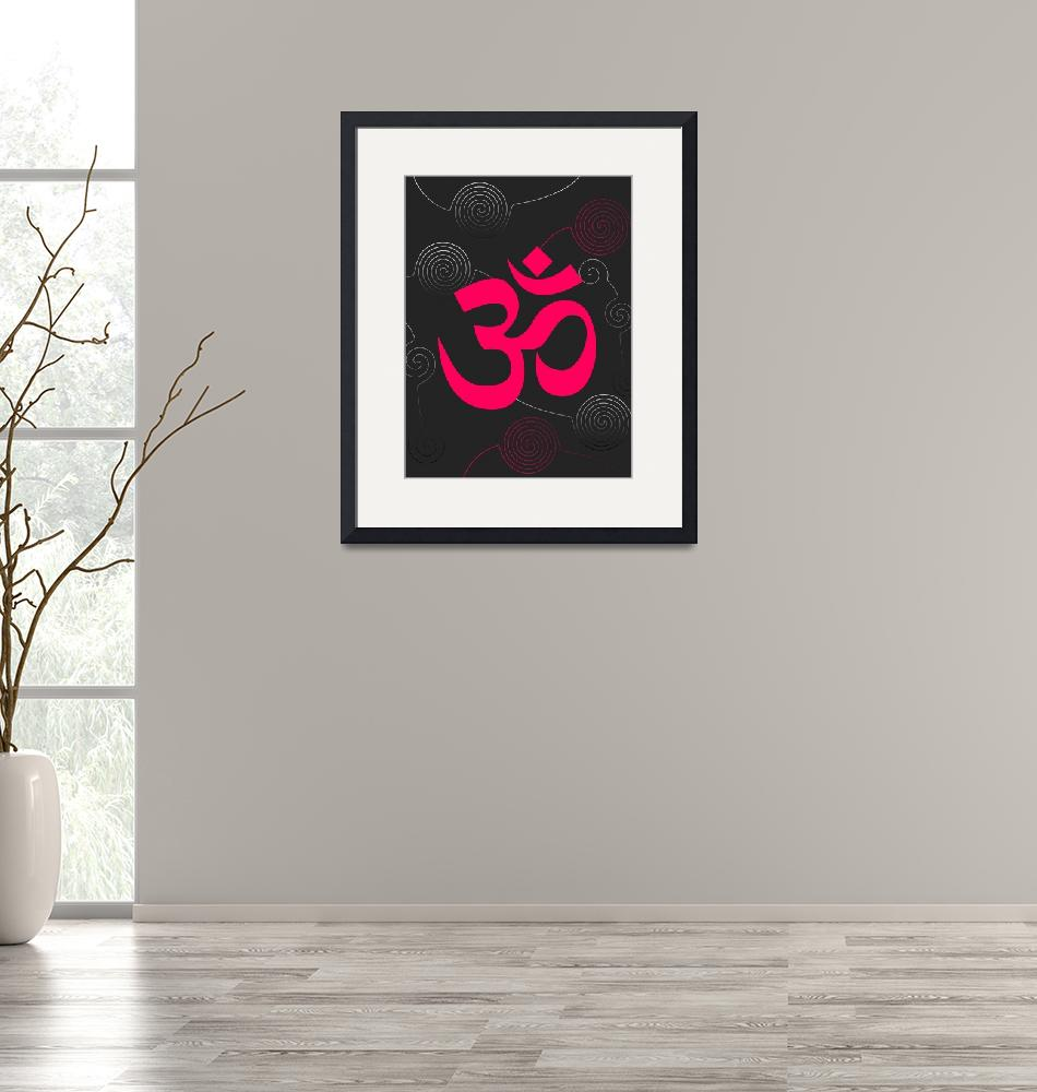 """""""Bright pink OM Sign and twirls""""  (2010) by desi"""
