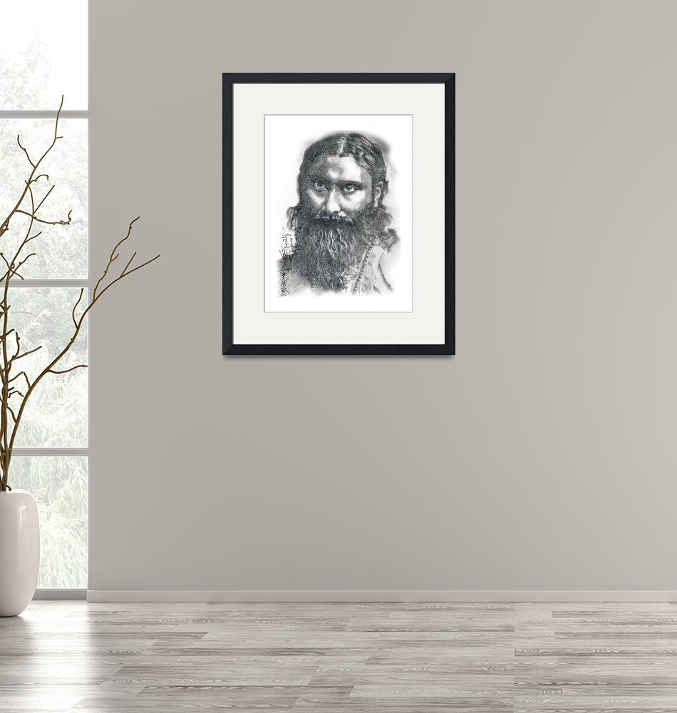 """Hand Drawn Portrait of Hazrat Inayat Khan""  by CreativeArtisticNuance"