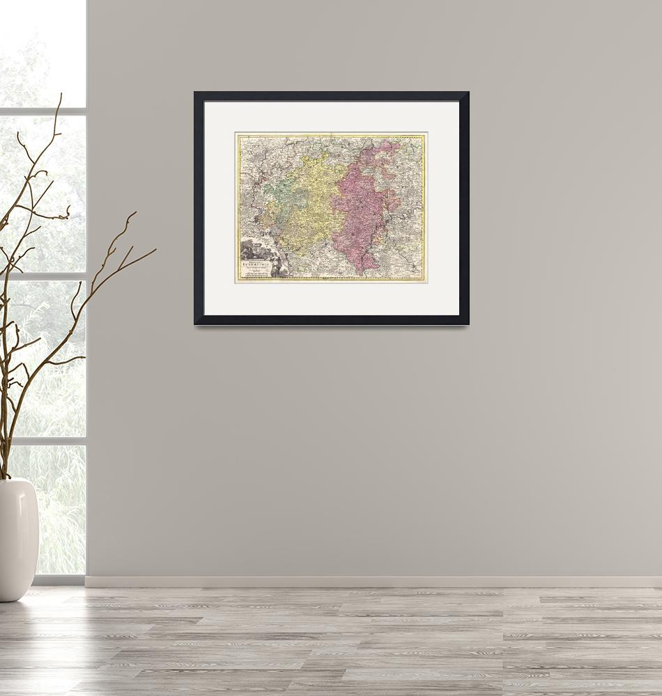 """""""Vintage Luxembourg Map (1730)""""  by Alleycatshirts"""
