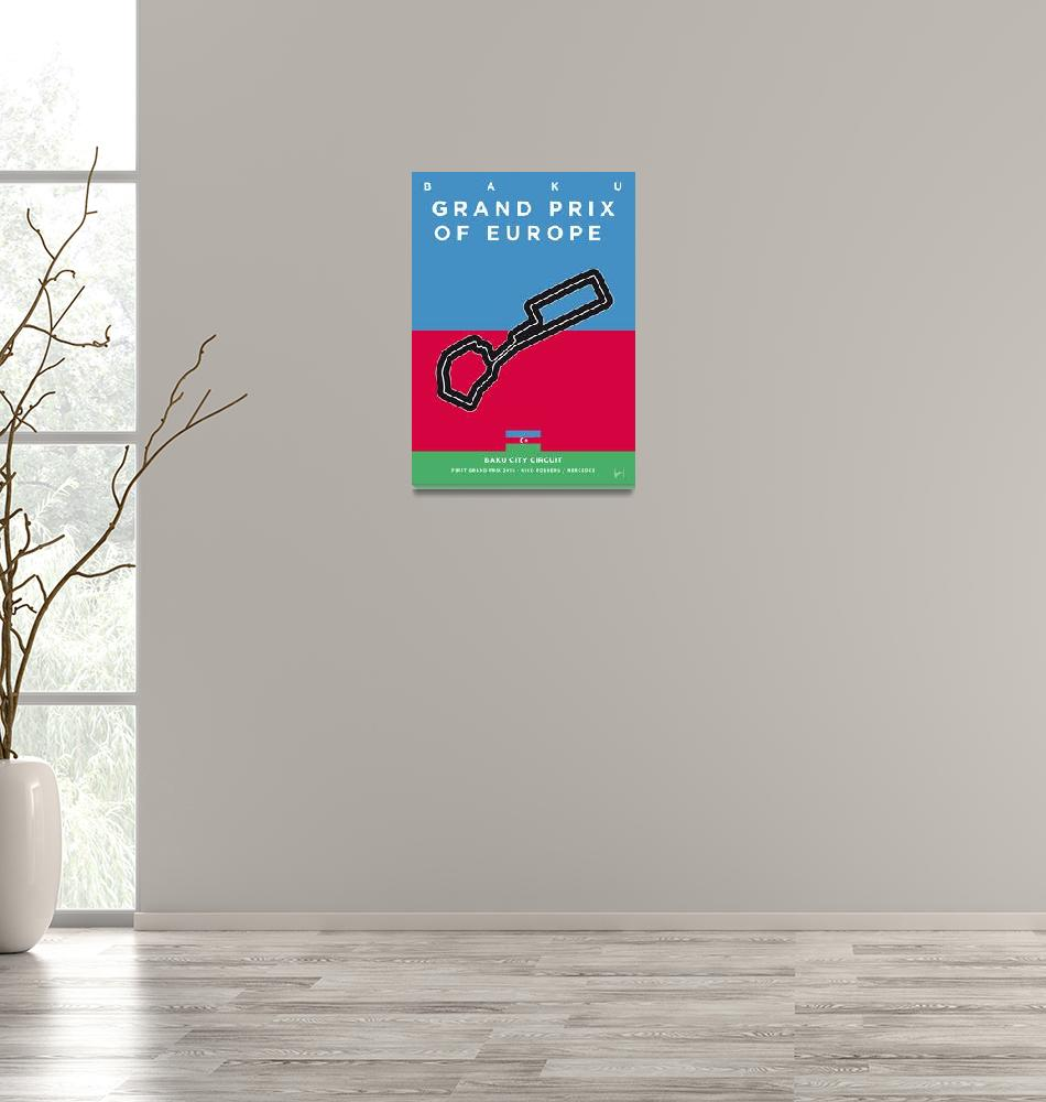 """My F1 BAKU Race Track Minimal Poster""  by Chungkong"