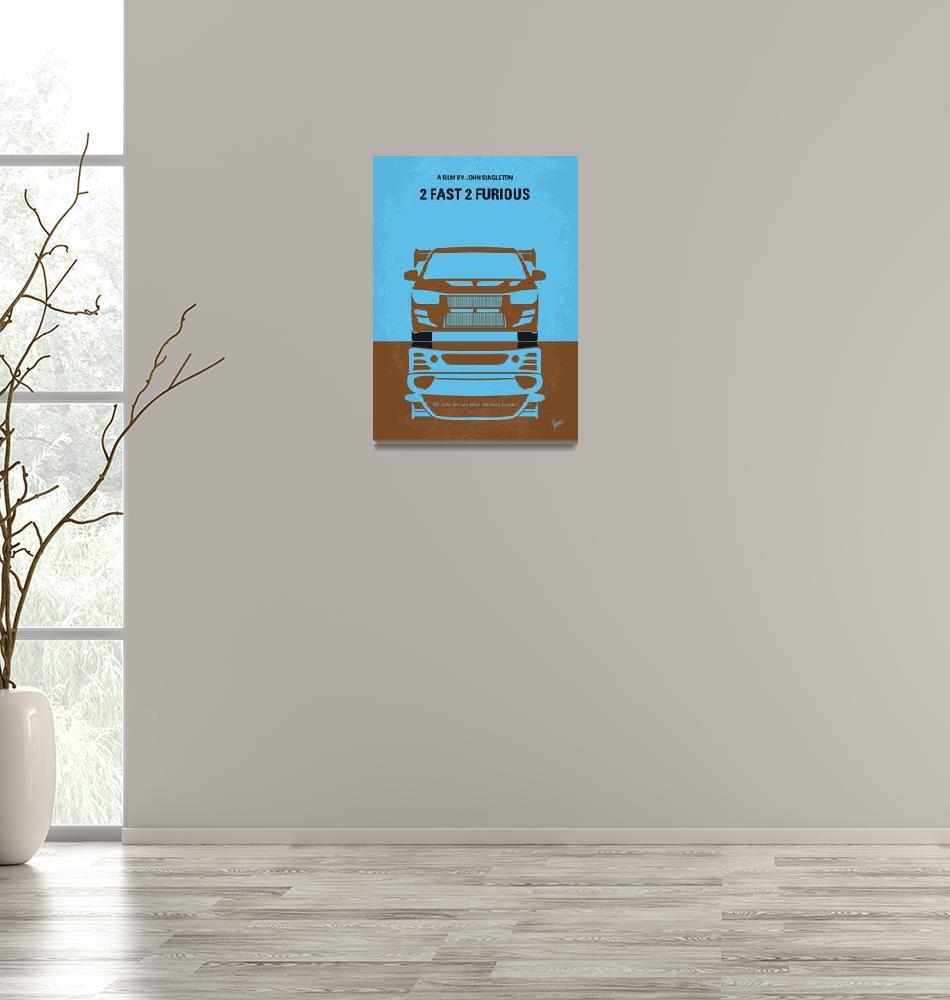 """No207-2 My 2 Fast 2 Furious minimal movie poster""  by Chungkong"