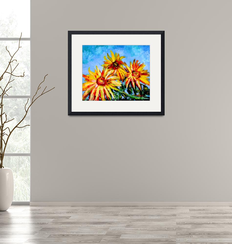"""SUNFLOWER DAY""  (2010) by claudemarshall"