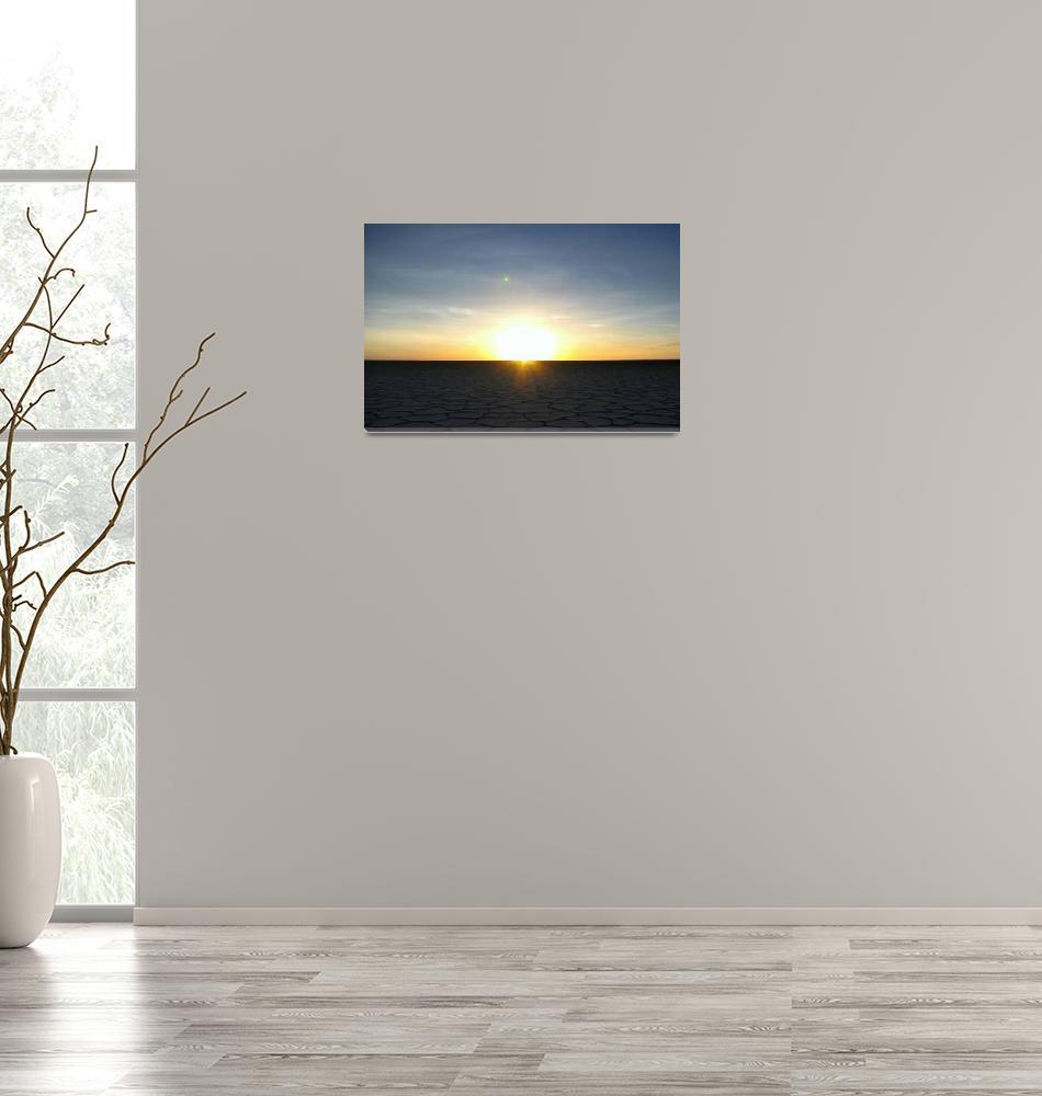 """""""Sunrise over the Salar de Uyuni""""  (2009) by worldtravels"""