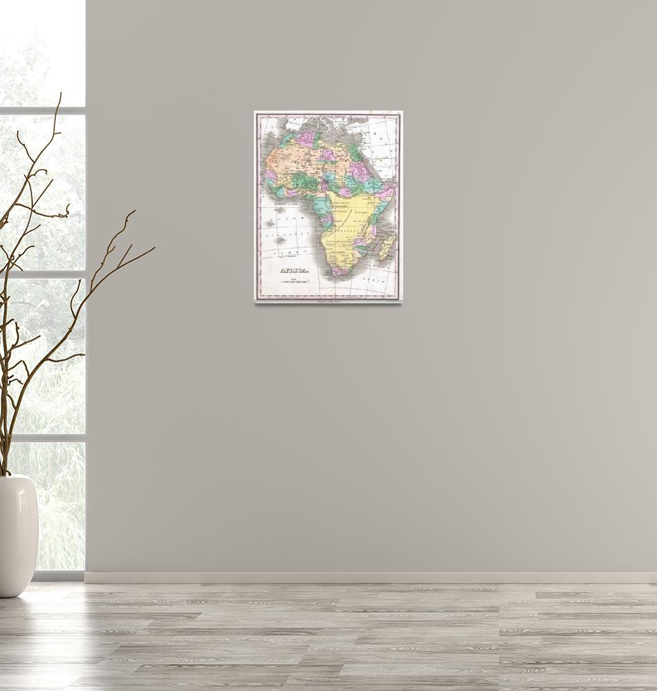 """""""Vintage Map of Africa (1827)""""  by Alleycatshirts"""